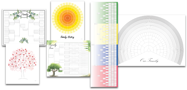 family chartmasters professional custom genealogy charts